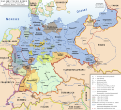 Location of German Empire