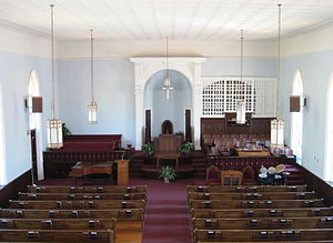 Dexter Avenue Baptist Church - Image: Dexter Avenue Baptist Church Interior