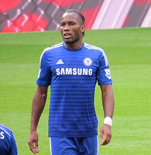 Didier Drogba - Drogba playing for Chelsea in 2014