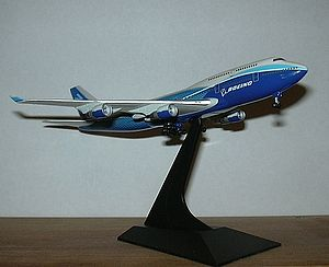 Model aircraft - A die cast Boeing 747-400 model