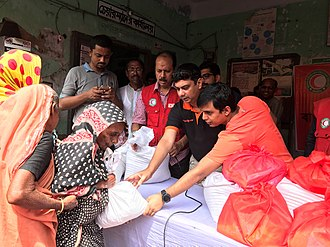 Banglalink - Banglalink official actively engaged in supporting the affected people of natural calamities