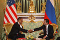 Dmitry Medvedev with Barack Obama 6 July 2009-1.jpg