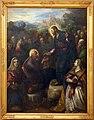 Domenico tintoretto, cristo consegna le chiavi a san pietro alla presenza degli apostoli e delle ss. giacinta e giustina, 1597-1601.jpg