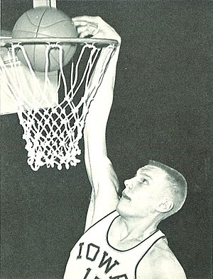 Don Nelson - Nelson dunking during his college days with the Iowa Hawkeyes.