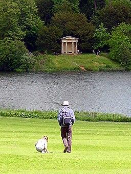 Doric Temple and Lake, Bowood House - geograph.org.uk - 108024