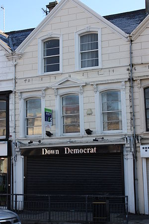 Down Democrat - Down Democrat (former) office, Market Street, Downpatrick, February 2010