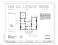 Dr. Ezekiel Lovejoy House, 100 Front Street, Owego, Tioga County, NY HABS NY,54-OWEG,1- (sheet 1 of 1).png