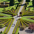 Drummond Castle - view of garden and sundial from parapet of keep.jpg