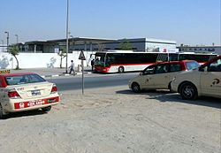 Dubai buses and taxis in Al Qusais