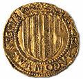 Ducado de oro de Zaragoza de Juan II de Aragón (reverso).jpg
