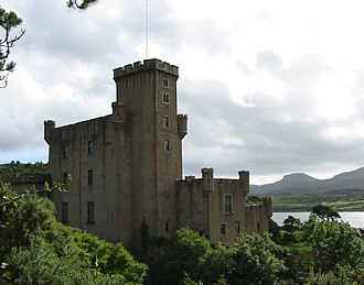 Skye - Dunvegan Castle, looking towards MacLeod's Tables