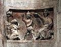 Duomo di trento, interno, frammenti romanici della lapidazione di s. stefano 02.jpg
