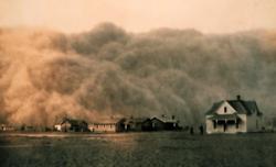 Tempête de sable en 1935 au Texas