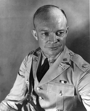 Dwight D. Eisenhower while a major in the US Army.