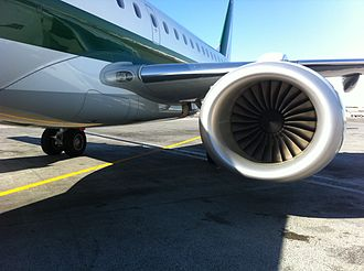 General Electric CF34 - CF34 engine mounted on an Embraer E-190