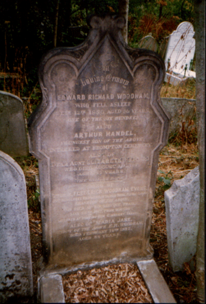 Edward Richard Woodham - Edward Richard Woodham's gravestone in Highgate Cemetery