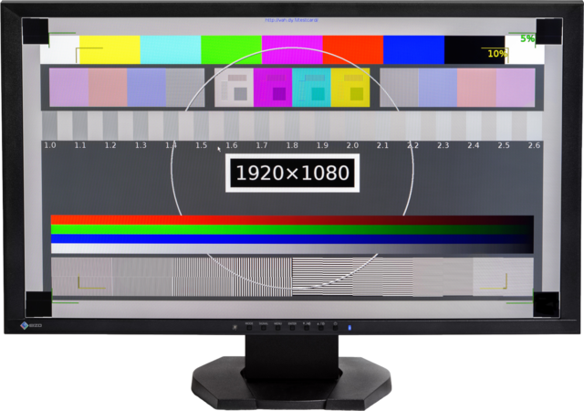 EIZO Foris FG2421 VGA computer monitor displaying test pattern.png