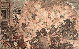 Vyacheslav von Plehve - Assassination of Mr. Plehve, Minister of Interior (Angelo Agostini, O Malho, 1904).