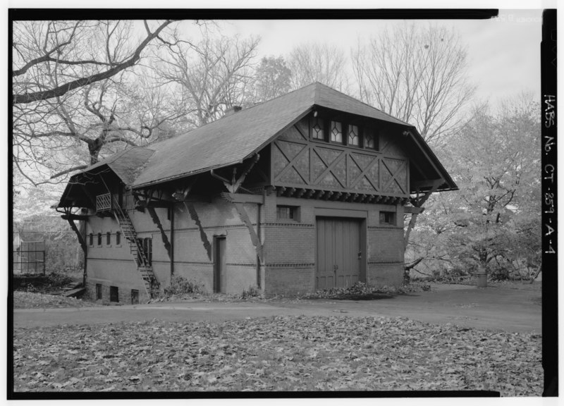 File exterior view of north and east elevations from the for The hartford house