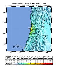 Terremoto M6.9 in offshore Valparaíso, Chile. (24 de abril de 2017).