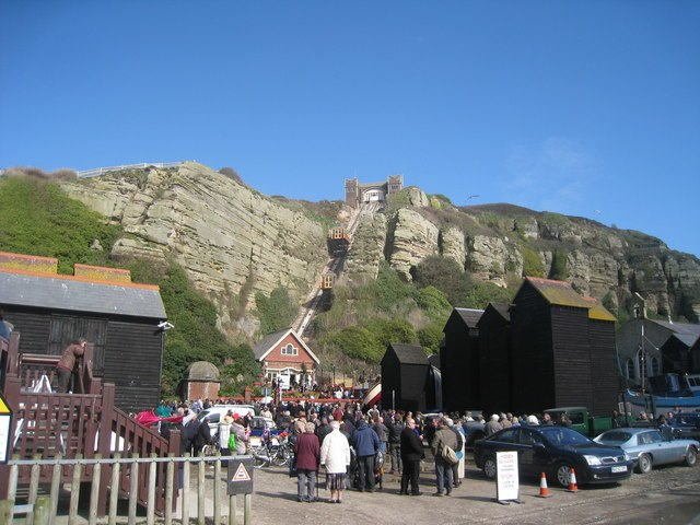 East Cliff Lift Re-opening - geograph.org.uk - 1773330