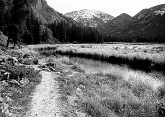 National Register of Historic Places listings in Grand County, Colorado - Image: East Inlet Trail