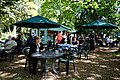 Easton Lodge Gardens, Little Easton, Essex, England outdoor café 03.jpg