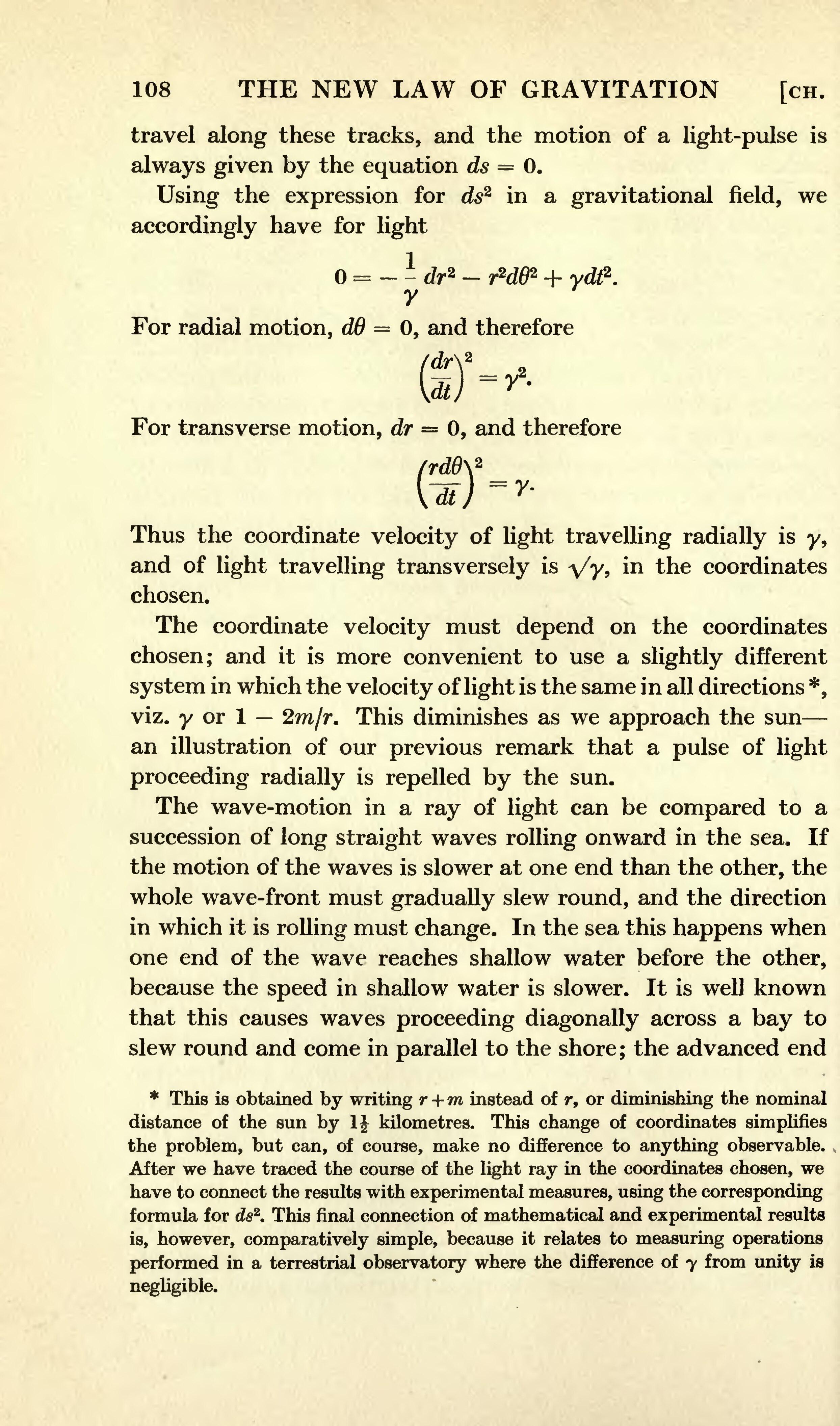 Page:Eddington A. Space Time and Gravitation. 1920.djvu ...