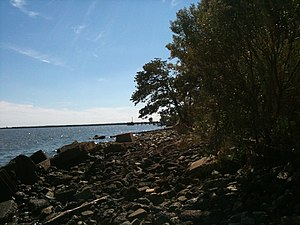 Edgemere, Maryland - Waterfront scene in Edgemere