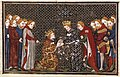 Edward III Plantagenet of England pays homage for Aquitaine to French King Philip VI Valois by Jean Fouquet, Grandes Chroniques de France (24532794988).jpg