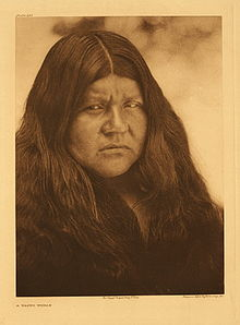 A Wappo Woman, from Edward S. Curtis Collection