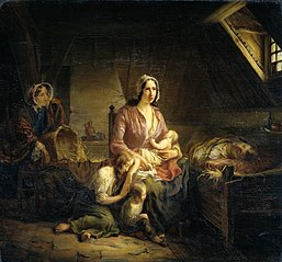A Rich Lady Visits a Poor Family