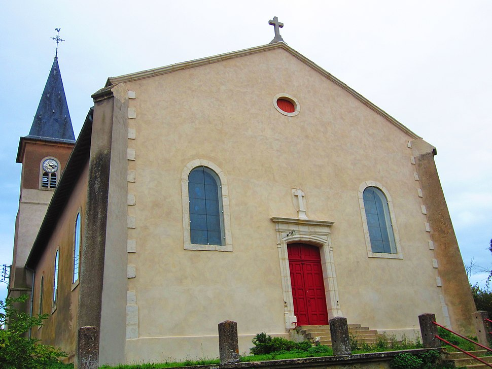 The church in Thézey-Saint-Martin