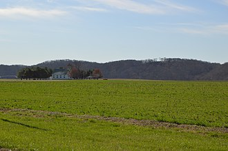 Posey Township, Switzerland County, Indiana - Fields in Egypt Bottom along State Road 156