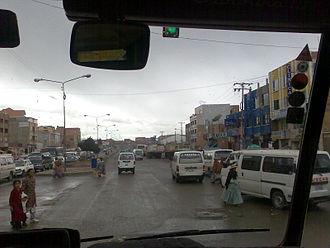 El Alto - Main street in El Alto
