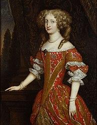 anonymus: Eleonore Magdalena (1655-1720) von Pfalz - Neuburg, Kaiserin, Kniestück