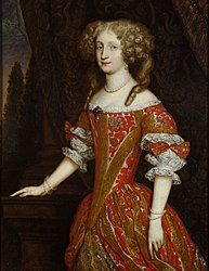 anonym: Eleonore Magdalena (1655-1720) von Pfalz - Neuburg, Kaiserin, Kniestück