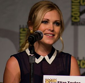 Eliza Taylor - Taylor at the San Diego Comic-Con International in the press-conference for The 100, July 2013.