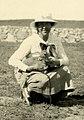 Elsa Rosenius-Andersson med antilopunge, Tabool, Inre Mongoliet.jpg