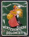 Enamel advertising sign, Koolzure Magnesiakalk, Winterswijkse Dolomiet.JPG