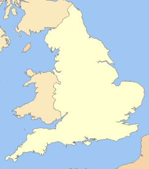 England in the uk outline map