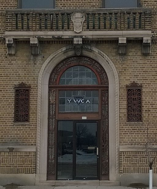 Entrance of YWCA building, Ottumwa, IA