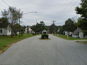 Oakdale Cotton Mill Village - Entrance to Oakdale Mill Village, September 2014