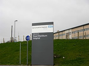 East Lancashire Hospitals NHS Trust - Entrance to the Royal Blackburn Hospital
