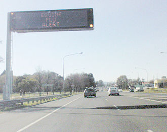 2007 Australian equine influenza outbreak - Highway emergency message: EQUINE FLU ALERT