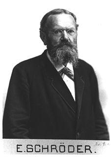 Ernst Schröder German mathematician