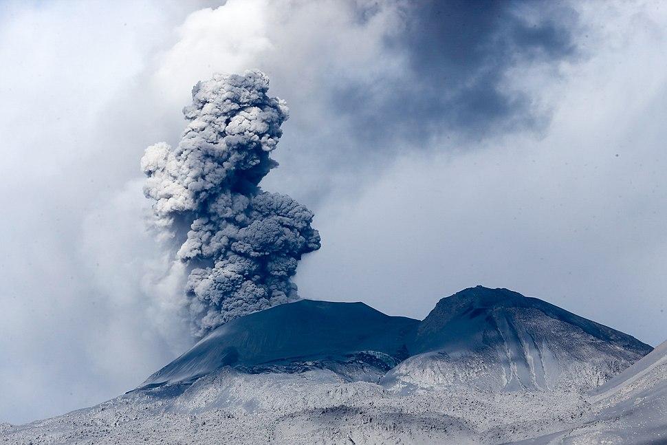 Erupción en el volcán Sabancaya, Perú