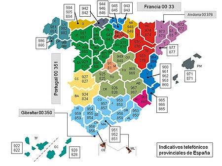 Anexoprefijos Telefónicos De España Wikipedia La Enciclopedia Libre