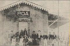 Primeiro pr�dio da Esta��o Po�, constru�do em 1891