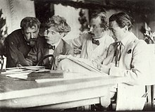 Eugene, Stieglitz, Kühn and Steichen Admiring the Work of Eugene.jpg